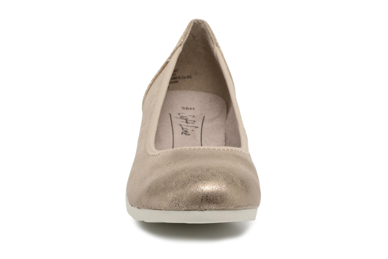 Ballerines Jana shoes Chelo Or et bronze vue portées chaussures