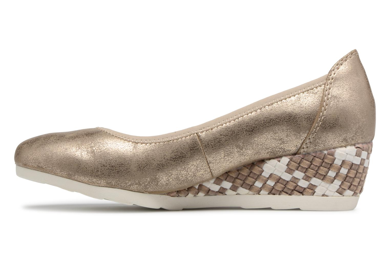 Ballerines Jana shoes Chelo Or et bronze vue face