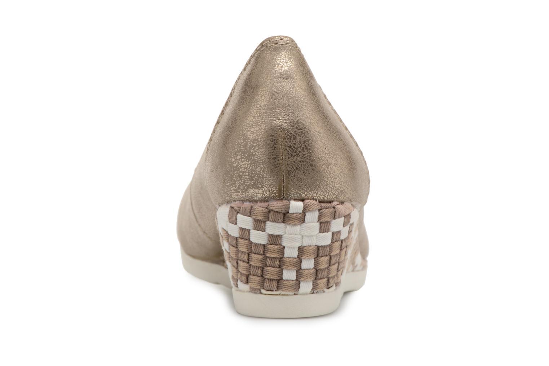 Ballerines Jana shoes Chelo Or et bronze vue droite