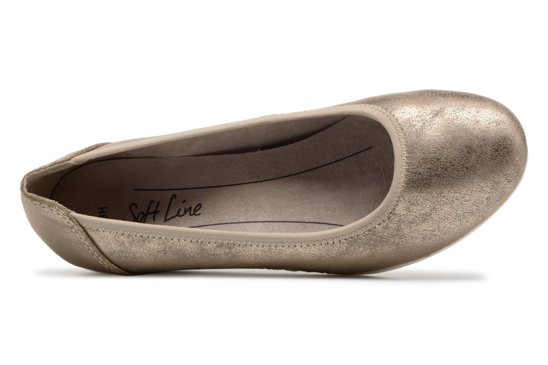Ballerines Jana shoes Chelo Or et bronze vue gauche