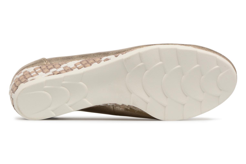 Ballerines Jana shoes Chelo Or et bronze vue haut