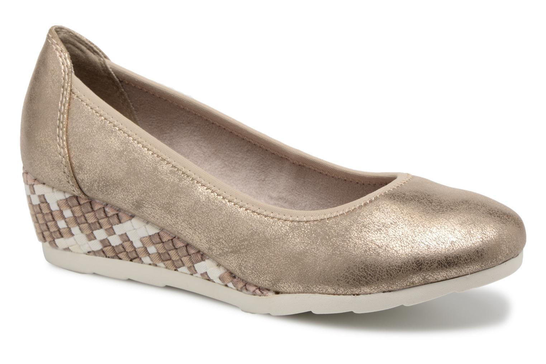 Ballerines Jana shoes Chelo Or et bronze vue détail/paire