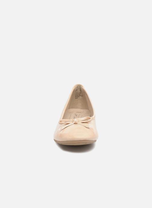 Ballerines Jana shoes Kasia Beige vue portées chaussures
