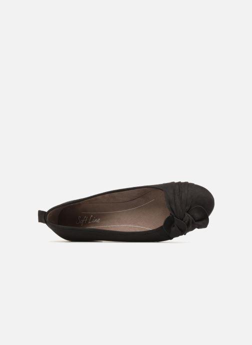Ballerines Jana shoes Adalia Noir vue haut