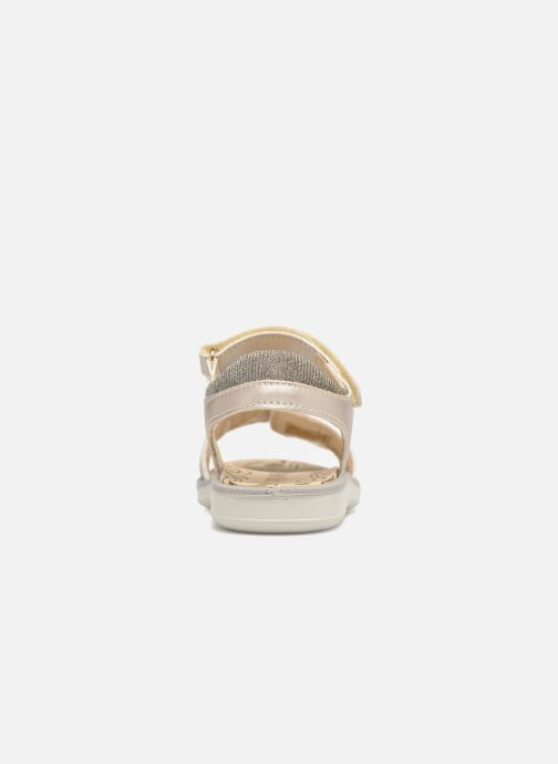 Sandals Primigi donna Bronze and Gold view from the right