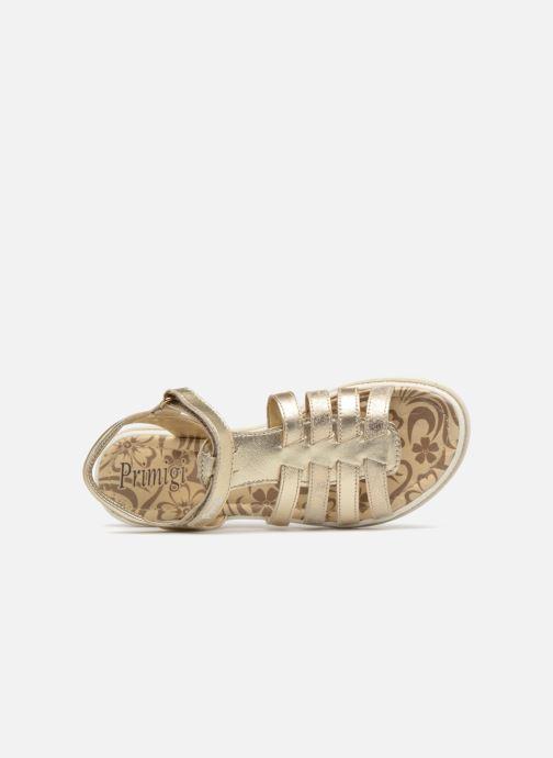 Sandales et nu-pieds Primigi Elda Or et bronze vue gauche
