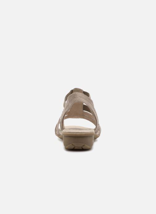 Sandales et nu-pieds Jana shoes Hermosa Beige vue droite