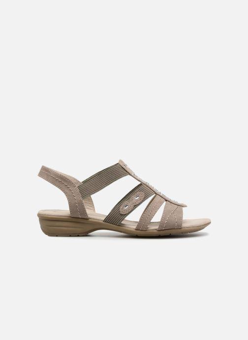 Sandalen Jana shoes Hermosa Beige achterkant