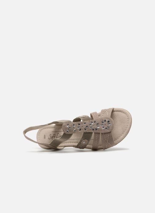 Sandales et nu-pieds Jana shoes Hermosa Beige vue gauche