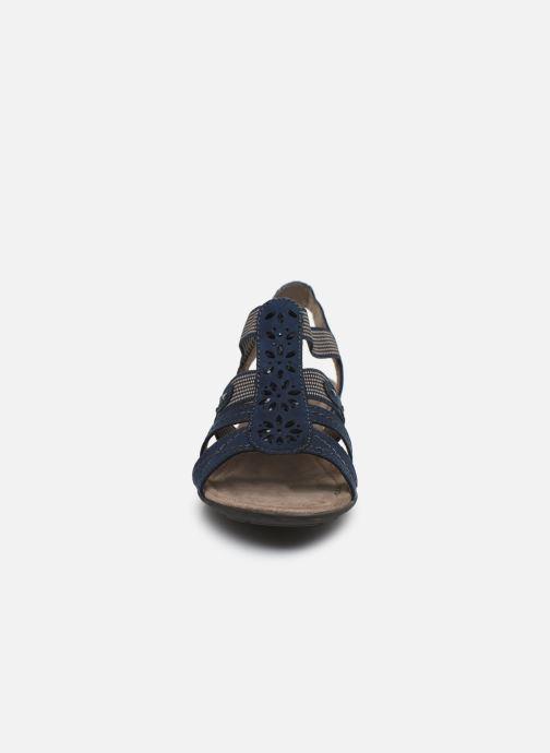 Sandales et nu-pieds Jana shoes Hermosa Bleu vue portées chaussures