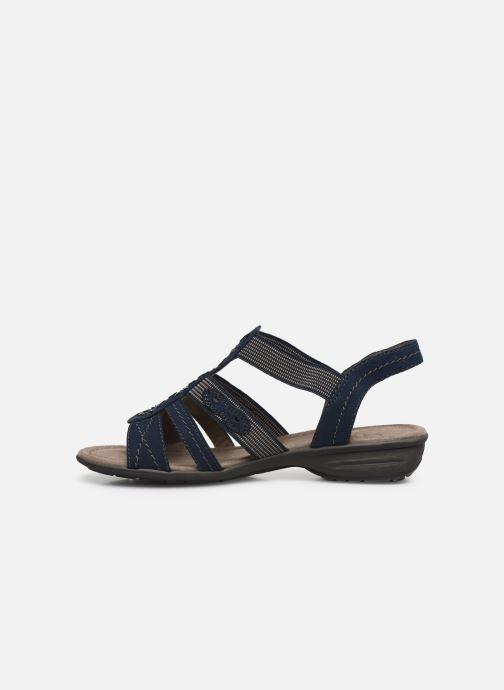 Sandalen Jana shoes Hermosa blau ansicht von vorne