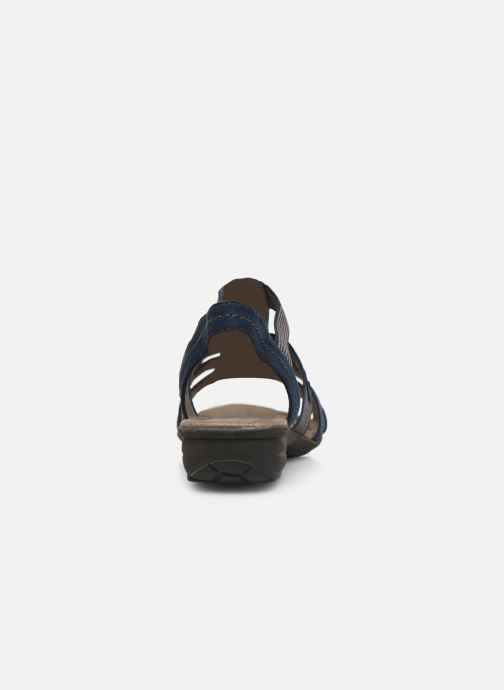 Sandalias Jana shoes Hermosa Azul vista lateral derecha