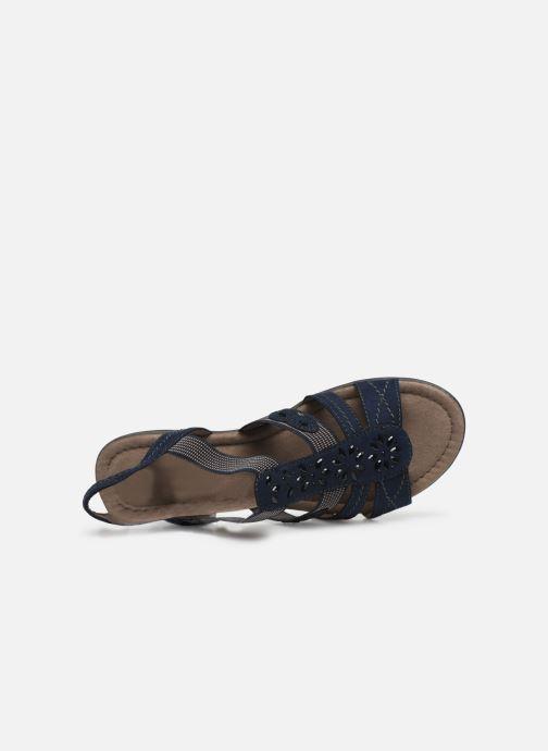 Sandalen Jana shoes Hermosa blau ansicht von links