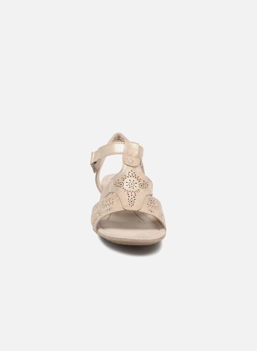 Sandals Jana shoes Idalia Bronze and Gold model view