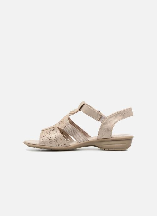 Sandals Jana shoes Idalia Bronze and Gold front view