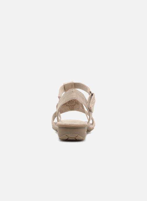 Sandals Jana shoes Idalia Bronze and Gold view from the right