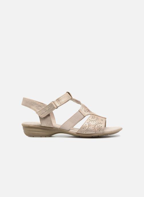Sandals Jana shoes Idalia Bronze and Gold back view
