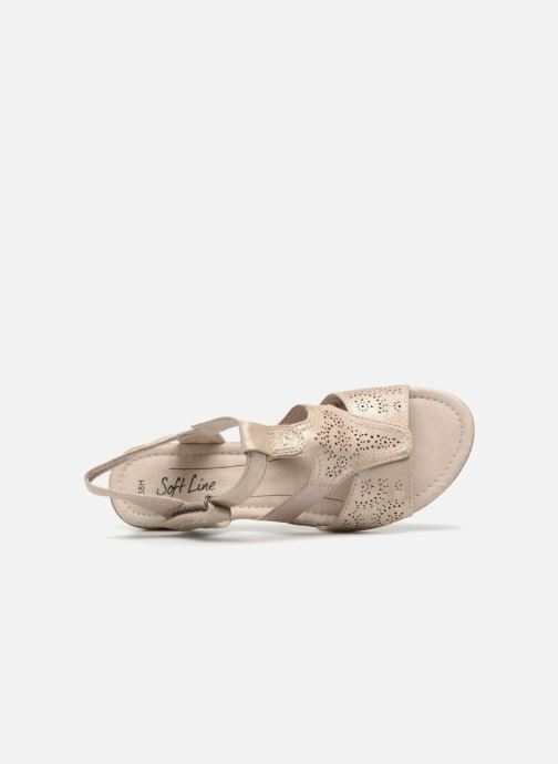 Sandals Jana shoes Idalia Bronze and Gold view from the left