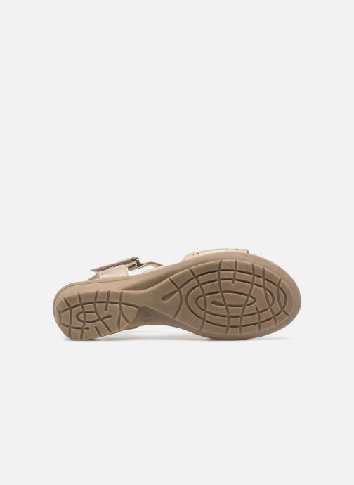 Sandales et nu-pieds Jana shoes Idalia Or et bronze vue haut