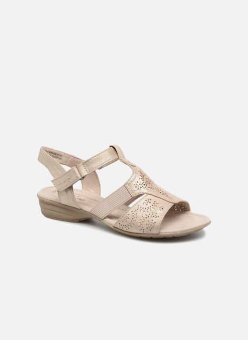Sandals Jana shoes Idalia Bronze and Gold detailed view/ Pair view