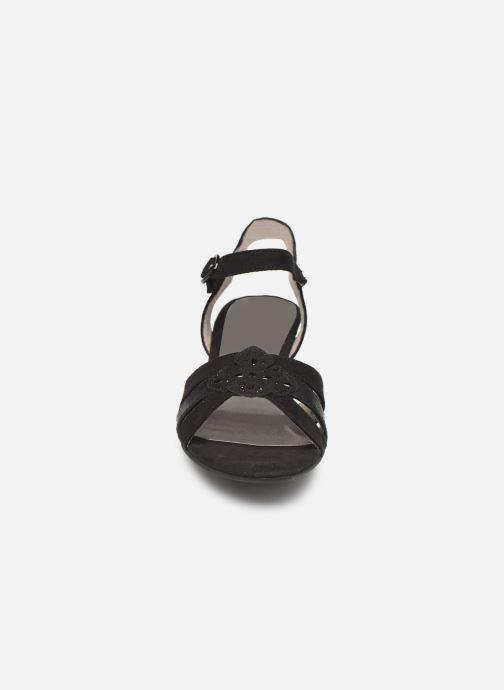 Sandalen Jana shoes Carletta schwarz schuhe getragen