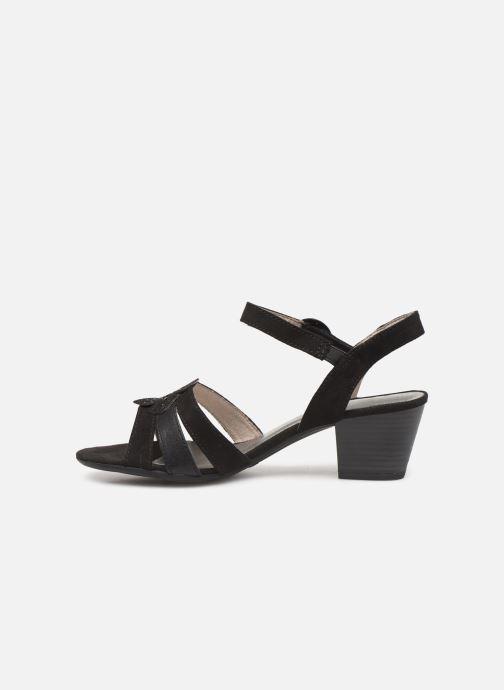 Sandalen Jana shoes Carletta schwarz ansicht von vorne