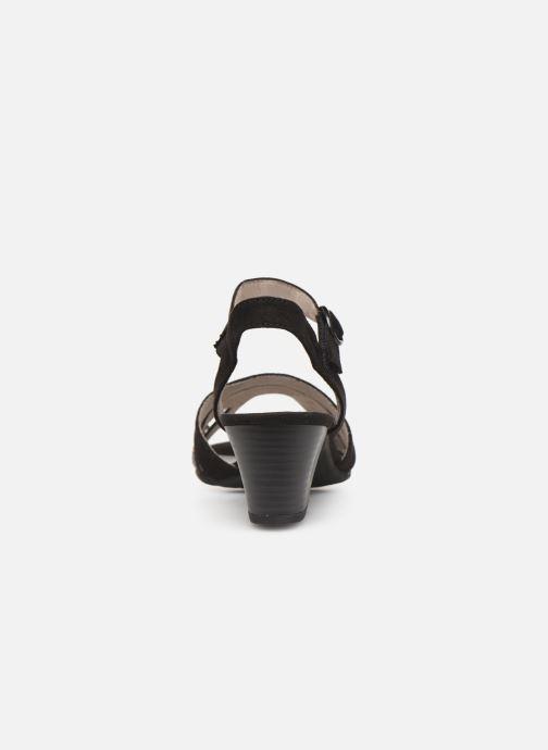 Sandalen Jana shoes Carletta schwarz ansicht von rechts
