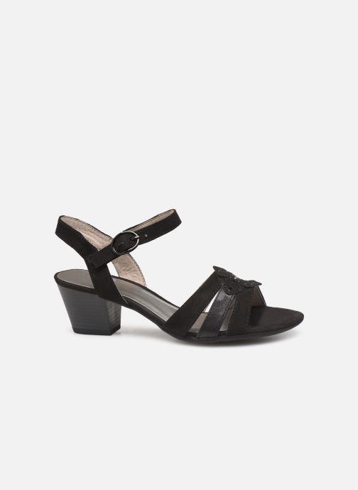 Sandalen Jana shoes Carletta schwarz ansicht von hinten