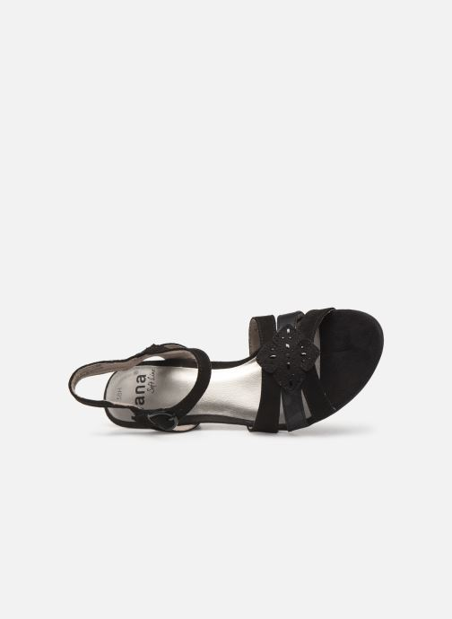 Sandalias Jana shoes Carletta Negro vista lateral izquierda