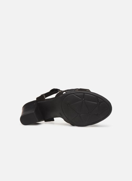 Sandalen Jana shoes Carletta schwarz ansicht von oben