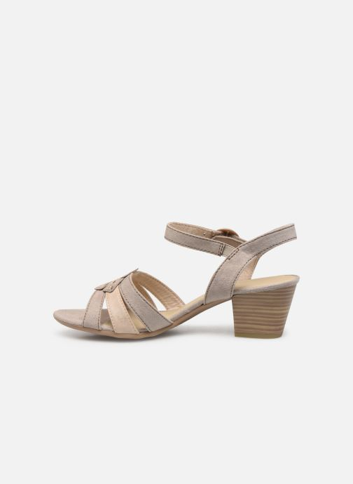Sandalias Jana shoes Carletta Beige vista de frente