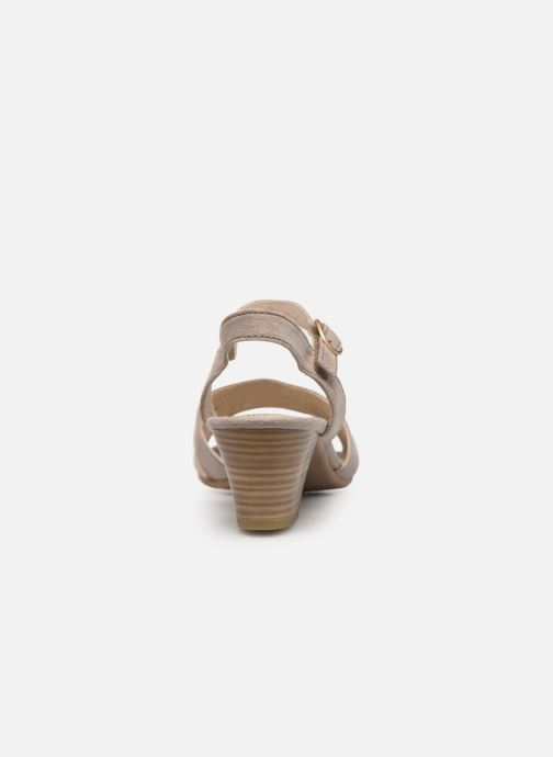 Sandals Jana shoes Carletta Beige view from the right