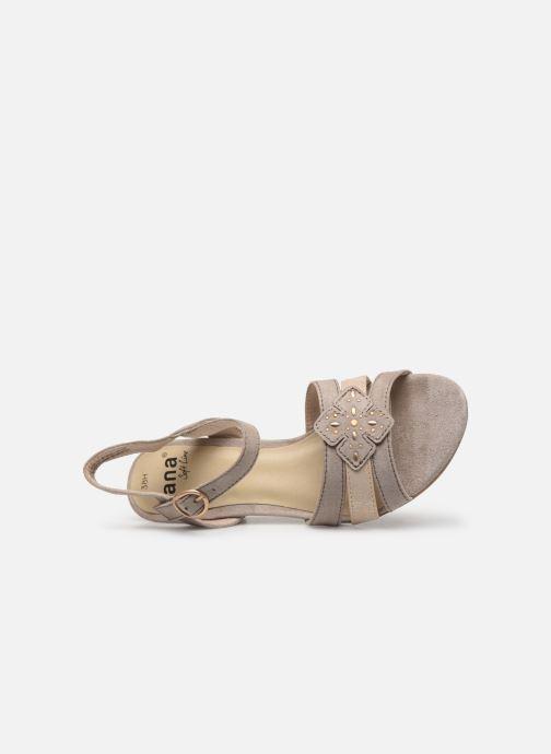 Sandalias Jana shoes Carletta Beige vista lateral izquierda