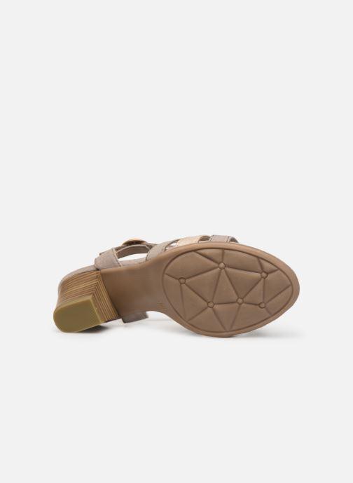 Sandales et nu-pieds Jana shoes Carletta Beige vue haut