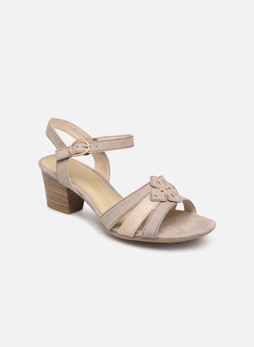 Sandaler Jana shoes Carletta Beige detaljeret billede af skoene