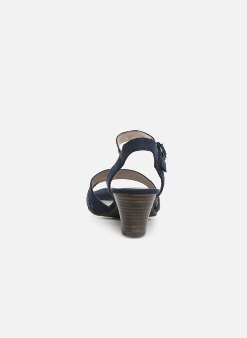 Sandalias Jana shoes Carletta Azul vista lateral derecha