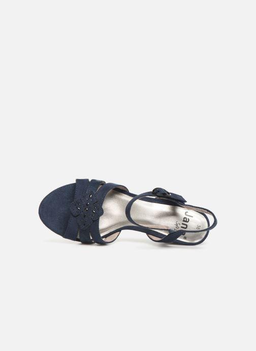 Sandalias Jana shoes Carletta Azul vista lateral izquierda