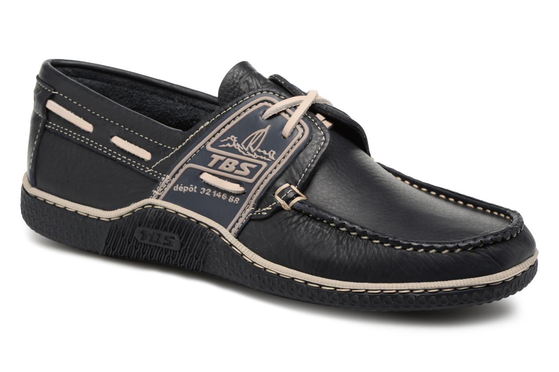 Chaussures à lacets TBS Globek--B8D12 Bleu vue détail/paire