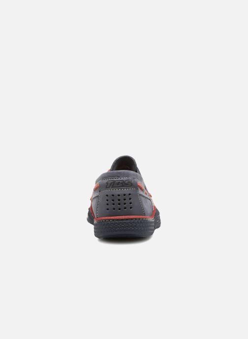 Chaussures à lacets TBS Globek Bleu vue droite