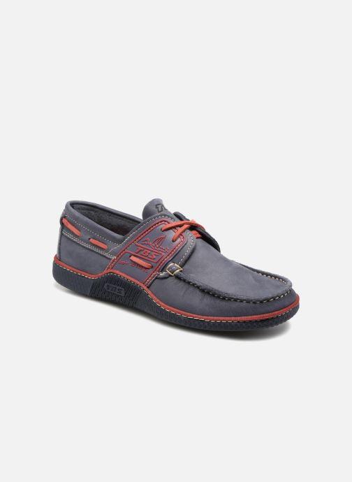 Chaussures à lacets TBS Globek Bleu vue détail/paire