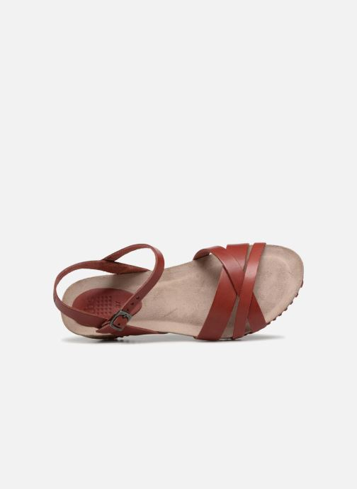 Sandals TBS Sabinne-C7416 Burgundy view from the left