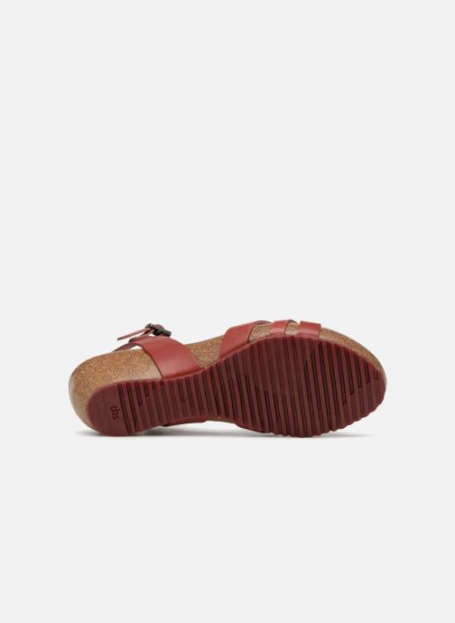 Sandals TBS Sabinne-C7416 Burgundy view from above