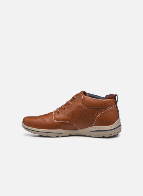 Zapatos con cordones Skechers Harper-Melden Marrón vista de frente