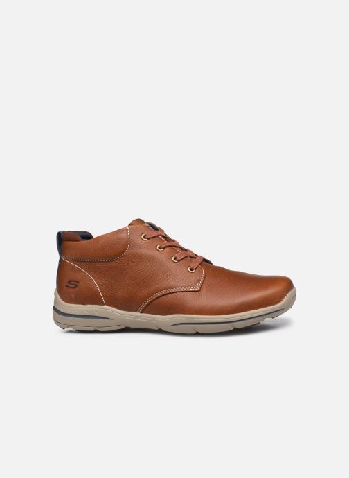 Chaussures à lacets Skechers Harper-Melden Marron vue derrière