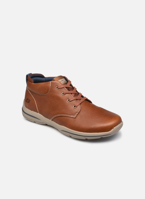 Zapatos con cordones Skechers Harper-Melden Marrón vista de detalle / par