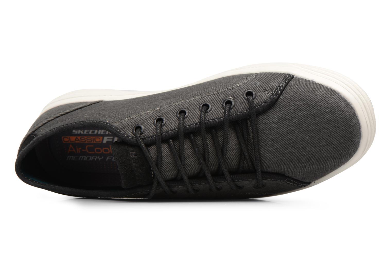 Deportivas Skechers Porter-Meteno Negro vista lateral izquierda