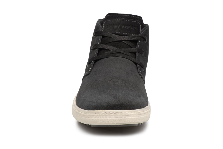 Bottines et boots Skechers Droven-Evado Noir vue portées chaussures