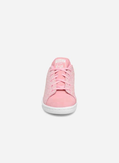 Baskets adidas originals Stan Smith C Rose vue portées chaussures