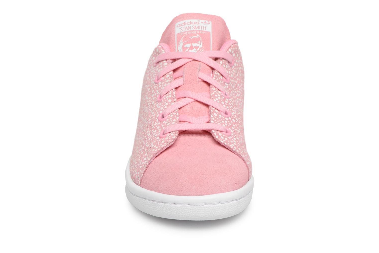 Baskets Adidas Originals Stan Smith C Rose vue portées chaussures