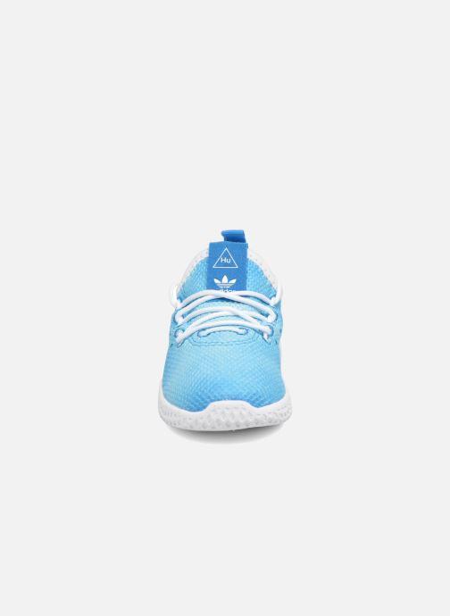 Deportivas adidas originals Pharrell Williams Tennis Hu I Azul vista del modelo